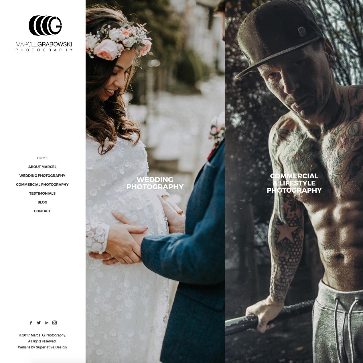 Wedding Photography Portfolio Website