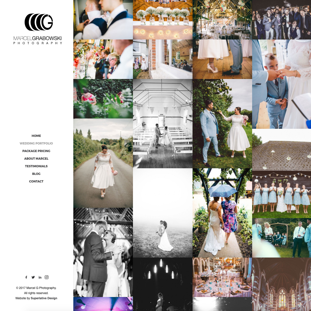Wedding Photography Portfolio Website