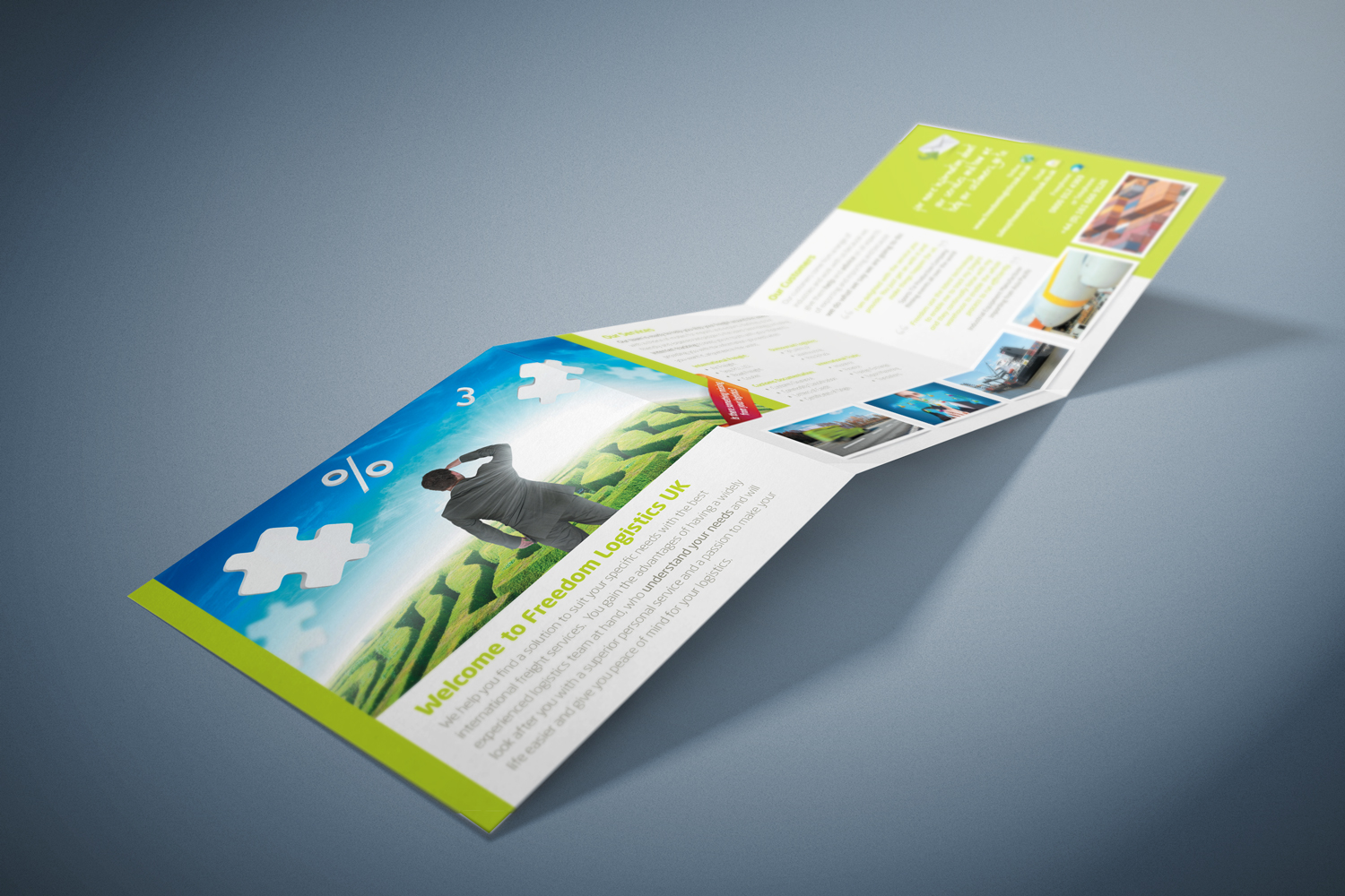 Square Folded Leaflet Design Eastbourne East Sussex