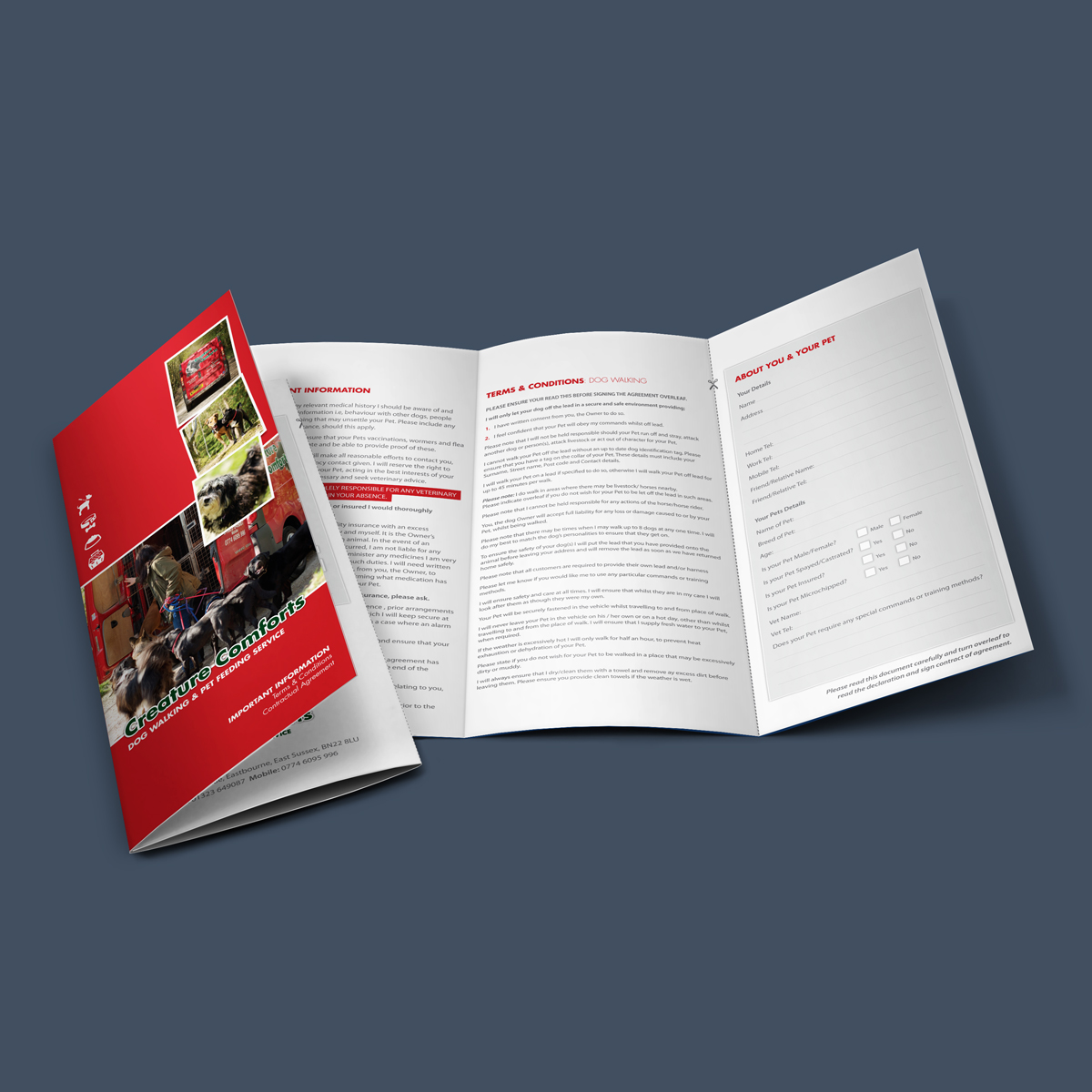 Leaflet Design Eastbourne East Sussex
